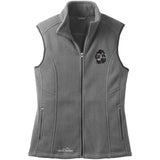 Embroidered Ladies Fleece Vests Gray 3X Large Newfoundland DV469BLK