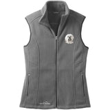 Embroidered Ladies Fleece Vests Gray 3X Large Tibetan Terrier DN391