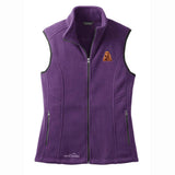 Embroidered Ladies Fleece Vests Blackberry 3X Large English Cocker Spaniel D28