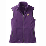 Embroidered Ladies Fleece Vests Blackberry 3X Large French Bulldog DN333