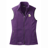 Embroidered Ladies Fleece Vests Blackberry 3X Large Great Pyrenees D27