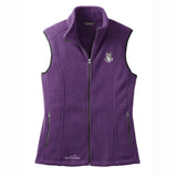 Embroidered Ladies Fleece Vests Blackberry 3X Large Schnauzer D133