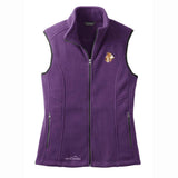 Embroidered Ladies Fleece Vests Blackberry 3X Large Wire Fox Terrier D107