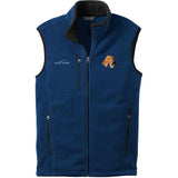 Embroidered Mens Fleece Vests Blackberry 3X Large Airedale Terrier D67