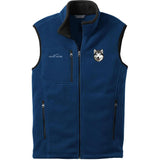 Embroidered Mens Fleece Vests Blackberry 3X Large Alaskan Malamute D33