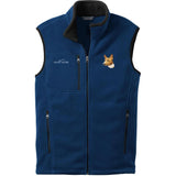Embroidered Mens Fleece Vests Blackberry 3X Large Basenji DM171
