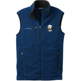 Embroidered Mens Fleece Vests Blackberry 3X Large Bearded Collie D37