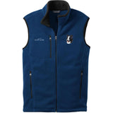 Embroidered Mens Fleece Vests Blackberry 3X Large Border Collie D16