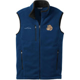 Embroidered Mens Fleece Vests Blackberry 3X Large Dachshund DV360
