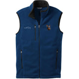 Embroidered Mens Fleece Vests Blackberry 3X Large Doberman Pinscher DM346