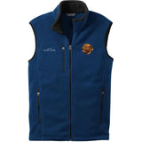 Embroidered Mens Fleece Vests Blackberry 3X Large Dogue de Bordeaux D39