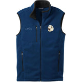 Embroidered Mens Fleece Vests Blackberry 3X Large Great Pyrenees D27