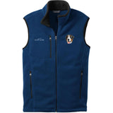 Embroidered Mens Fleece Vests Blackberry 3X Large Greater Swiss Mountain Dog DV379