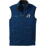 Embroidered Mens Fleece Vests Blackberry 3X Large Lowchen DJ325