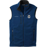 Embroidered Mens Fleece Vests Blackberry 3X Large Norwegian Elkhound D144