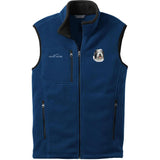 Embroidered Mens Fleece Vests Blackberry 3X Large Old English Sheepdog D40