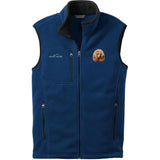 Embroidered Mens Fleece Vests Blackberry 3X Large Poodle DM449