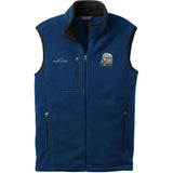 Embroidered Mens Fleece Vests Blackberry 3X Large Poodle DM450