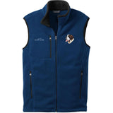 Embroidered Mens Fleece Vests Blackberry 3X Large Saint Bernard DM251
