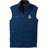 Embroidered Mens Fleece Vests Blackberry 3X Large Schnauzer D133