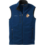 Embroidered Mens Fleece Vests Blackberry 3X Large Wire Fox Terrier D107