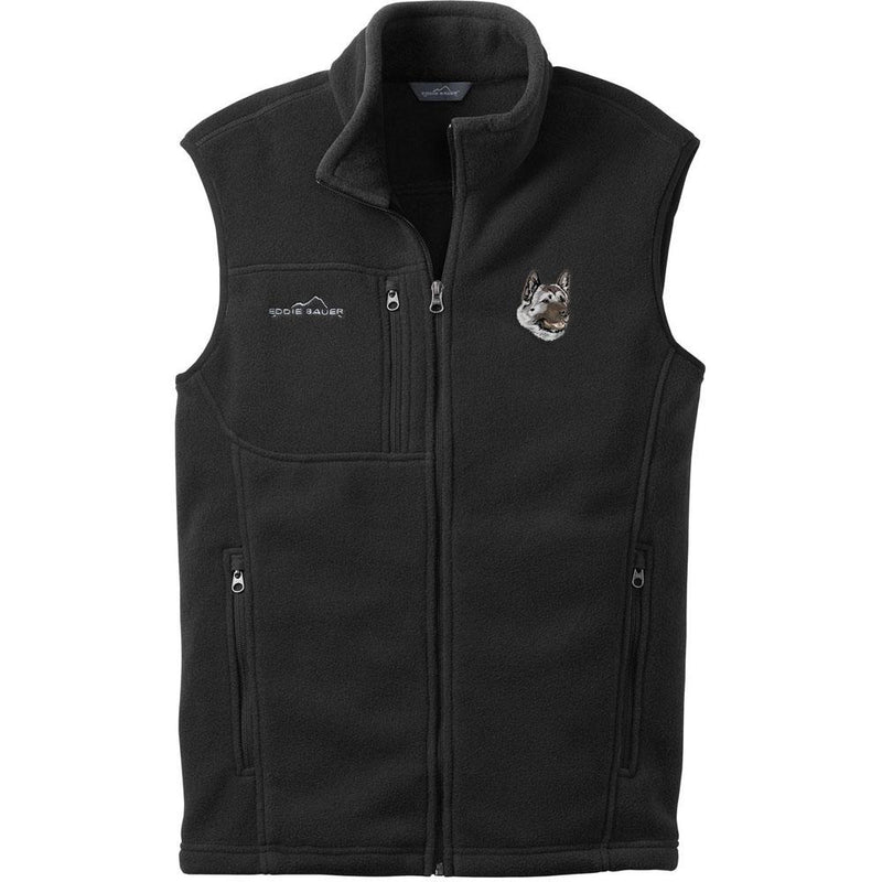 Embroidered Mens Fleece Vests Black 3X Large Akita DJ174