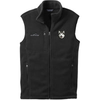 Alaskan Malamute Embroidered Mens Fleece Vest