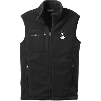 Bernese Mountain Dog Embroidered Mens Fleece Vest