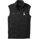 Embroidered Mens Fleece Vests Black 3X Large Bernese Mountain Dog D13