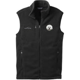 Embroidered Mens Fleece Vests Black 3X Large Bichon Frise DM406