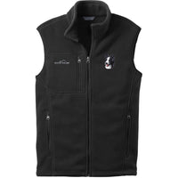 Border Collie Embroidered Mens Fleece Vest