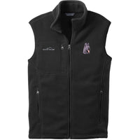 Briard Embroidered Mens Fleece Vest