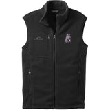 Embroidered Mens Fleece Vests Black 3X Large Briard D72