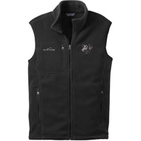 Curly Coated Retriever Embroidered Mens Fleece Vest