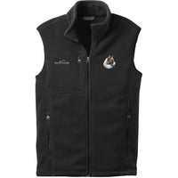Icelandic Sheepdog Embroidered Mens Fleece Vest
