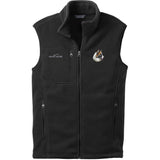 Embroidered Mens Fleece Vests Black 3X Large Icelandic Sheepdog DJ482