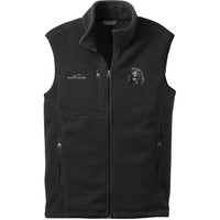 Irish Water Spaniel Embroidered Mens Fleece Vest