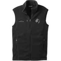 Irish Wolfhound Embroidered Mens Fleece Vest