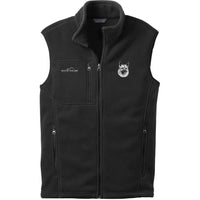 Norwegian Elkhound Embroidered Mens Fleece Vest
