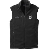 Embroidered Mens Fleece Vests Black 3X Large Norwegian Elkhound D144