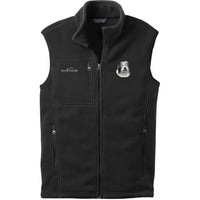 Old English Sheepdog Embroidered Mens Fleece Vest