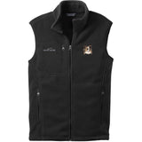 Embroidered Mens Fleece Vests Black 3X Large Papillon DV463