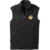 Embroidered Mens Fleece Vests Black 3X Large Pomeranian D103