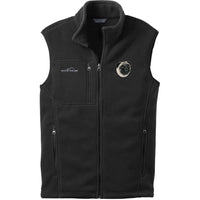 Pug Embroidered Mens Fleece Vest