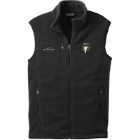 Saluki Embroidered Mens Fleece Vest