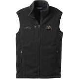 Embroidered Mens Fleece Vests Black 3X Large Schipperke DN434
