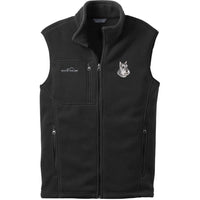 Schnauzer Embroidered Mens Fleece Vest