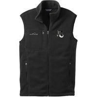 Smooth Fox Terrier Embroidered Mens Fleece Vest
