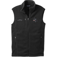 Staffordshire Bull Terrier Embroidered Mens Fleece Vest