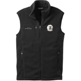 Embroidered Mens Fleece Vests Black 3X Large Tibetan Terrier DN391